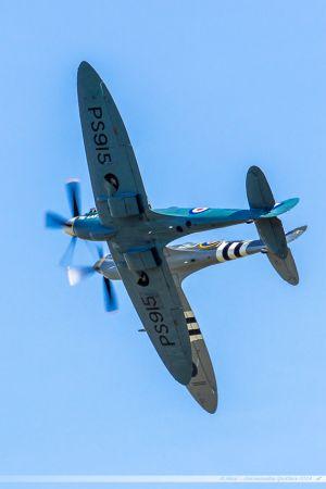 Supermarine 361 Spitfire LF9C (MK356) %26 Supermarine 389 Spitfire PR19 (PS915) Battle of Britain Memorial Flight