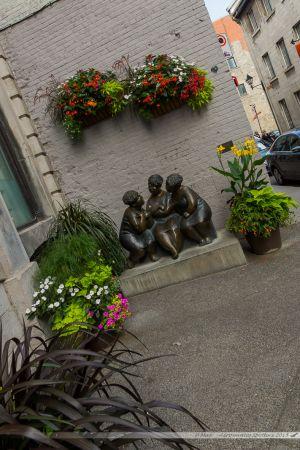Rue St Paul, dans le coeur du vieux Montréal