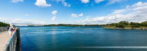 Fleuve Saint Laurent et son Pont Jacques Cartier