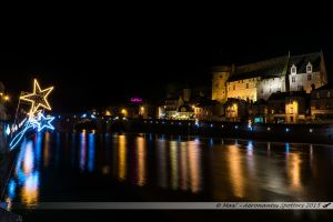 Illuminations 2015 : Vieux Chateau et la Mayenne