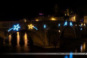 Illuminations 2015 : Vieux Pont sur la Mayenne
