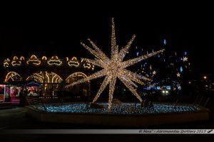 Illuminations 2015 : Fontaine et manège de la place de la Mairie de Laval
