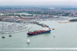 Second port de plaisance de Portsmouth. Vue depuis la Spinnaker Tower.