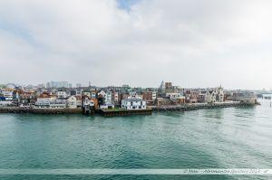 Les vieux quartiers de Portsmouth vus depuis le chenal.
