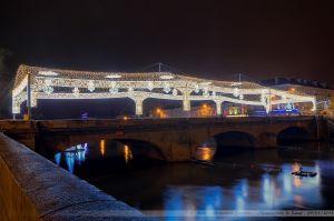 Les Lumières de Laval 2012 - Le Pont Aristide Briand et sa voute étoilée