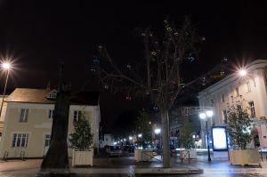 Les Lumières de Laval 2012 - La Statue de la place de la Préfecture