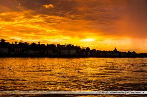 Coucher de soleil sur Quilleboeuf-sur Seine