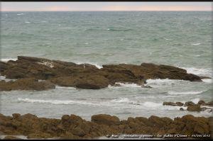 Rochers de la plage de l'Aubraie