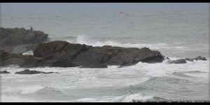 Tempête sur les rochers de la baie de Cayola