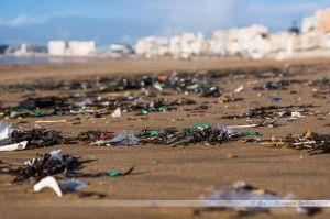 Dégâts des tempêtes de l'hiver 2013-2014 aux Sables d'Olonne : les déchets déversés par les océans, et oui, la mer n'est pas une poubelle...
