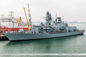 HMS St Albans - F83, frégate de la Royal Navy dans le port militaire de Portsmouth