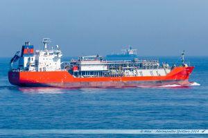 Croisement en Manche en sortant de Portsmouth du tanker