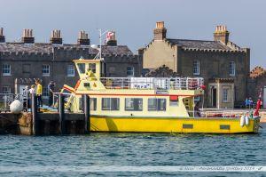 """""""Maid of the Islands"""" à quai à Brownsea Island. Il assure les rotations entre l'île, les quais du port de Poole et Sandbanks"""