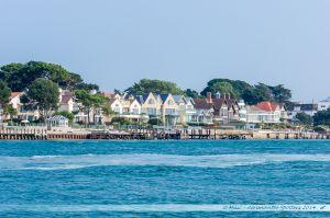 Villas le long des rives du port de Poole