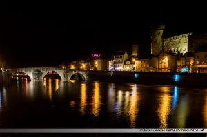 Les Lumières de Laval 2014 - Le Pont-Vieux et le Vieux-Chateau
