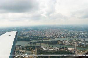 Vu du Ciel : Quartier nantais de Malakoff, pointe est de l'île de Nantes, et ville de Saint Sébastien sur Loire