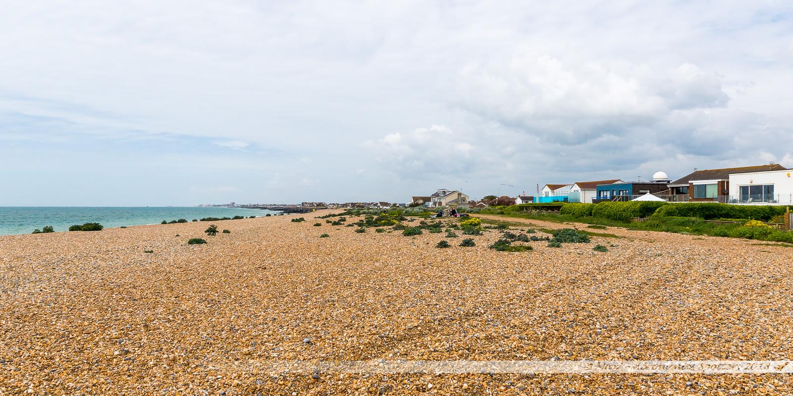 Plage de galets de Shoreham-on-the Sea
