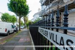 """Le quartier de """"Montpelier"""", constitué de maisons construites au milieu du XIXème siècle dans un style alliant Régence anglaise et inspirations italiennes, est le quartier le plus chic de Brighton."""