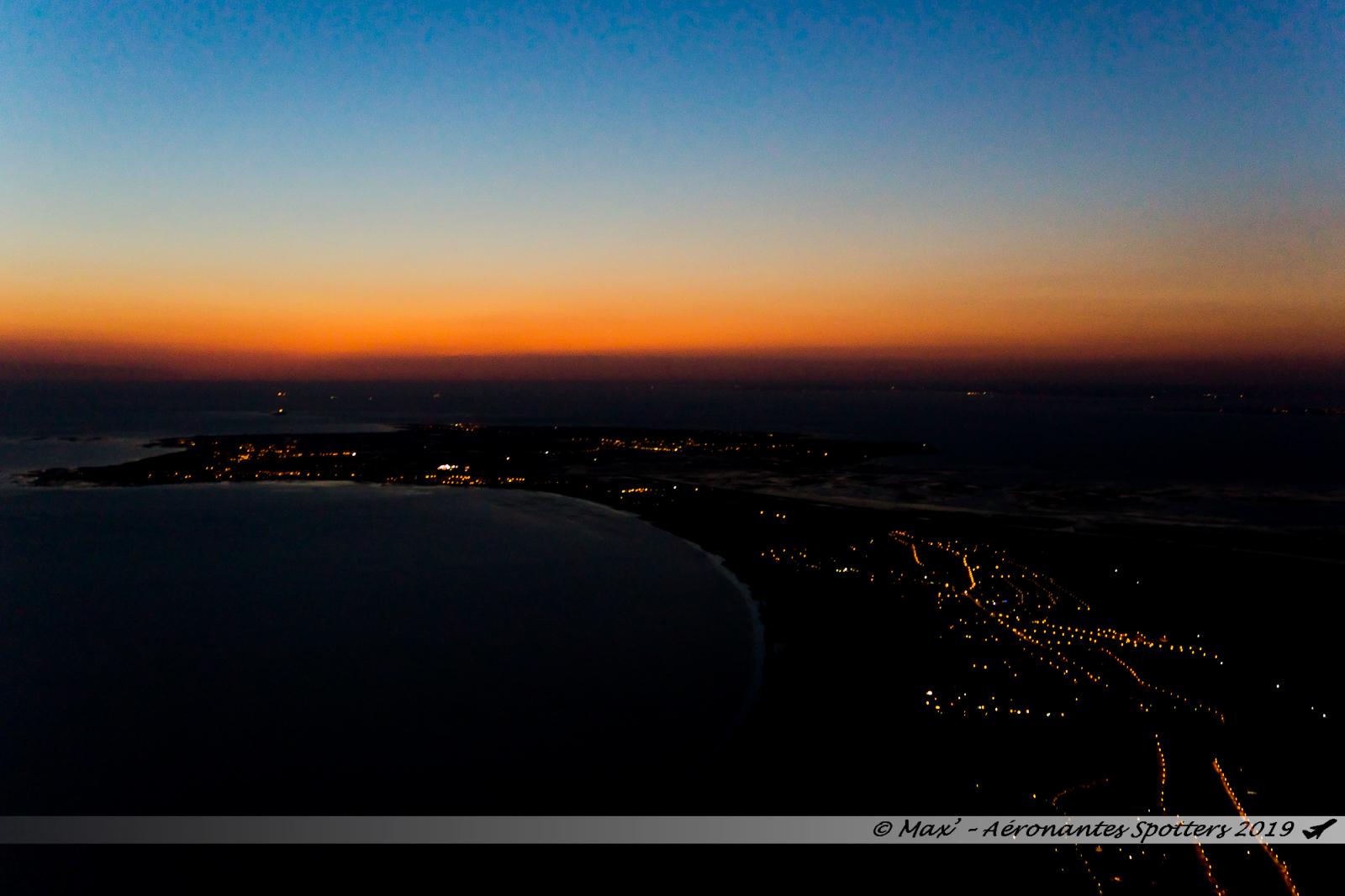 Ile de Noirmoutier à quelques minutes du début des feux d'artifices