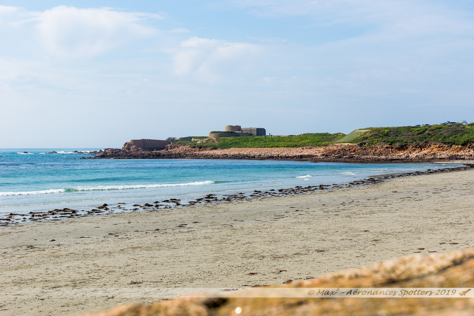 Guernsey Island - Vazon Bay et L'Eree Gun Battery
