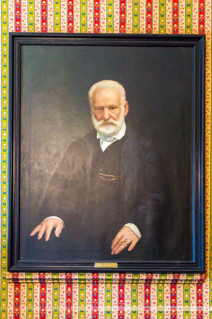 Hauteville House - Portrait de Victor Hugo dans la chambre d'Auguste Vacquerie (Utilisée désormais en réception du musée)