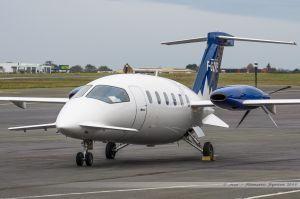 Piaggio P-180 Avanti (F-GZPE) Pan Européenne Air Service