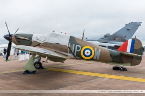 Hawker Hurricane I (G-HUPW/R4118/UP-W) Touchdown Aviation