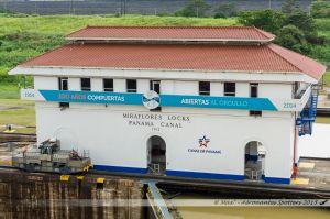 Poste de commande central de l'écluse de Miraflores
