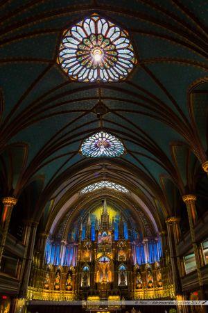 Intérieur de la basilique Notre Dame de Montréal