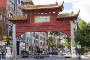 Quartier Chinatown dans le centre de Montréal