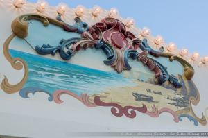 Close-up sur le manège du remblai des Sables d'Olonne