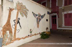 Fresque dans le quartier de l'île Peunotte
