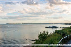 La baie de Bournemouth et de Poole vue depuis la falaise est