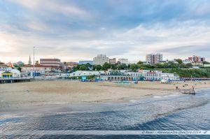 Le centre-ville de Bournemouth vu depuis le