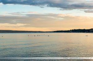 Coucher de soleil sur la baie de Poole