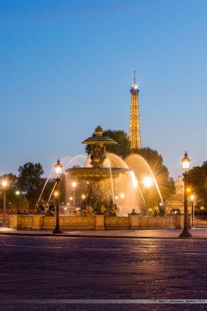 Fontaine des Mers sur la Place de la Concorde