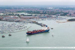 Second port de plaisance de Portsmouth. Vue depuis la Spinnaker Tower.