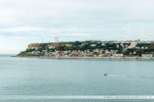 Sainte-Adresse près du Havre vue depuis le ferry