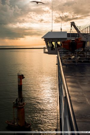 Etretat de la Brittany Ferries durant son lamanage dans le port du Havre