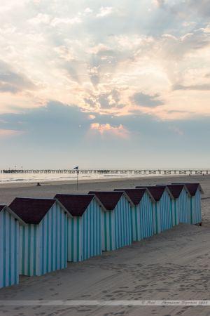Cabines de plage sur la Grande Plage de Saint Jean de Monts