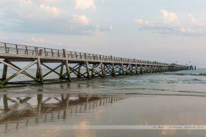L'estacade de Saint Jean de Monts vue de la plage
