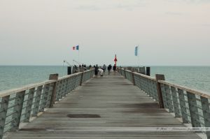 Une avancée vers la mer : l'estacade de Saint Jean de Monts