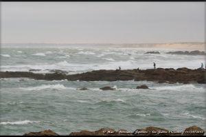 La plage de l'Aubraie et ses étendues de sable ponctuées de rochers