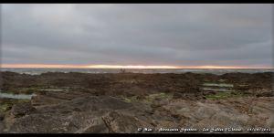 Coucher de soleil depuis la plage de la Chaume