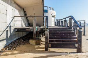 Dégâts des tempêtes de l'hiver 2013-2014 aux Sables d'Olonne : le manque de sable