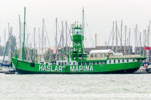 Mary Mouse 2 à quai dans le chenal de Portsmouth. Ancien bateau-phare