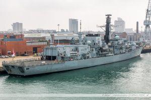 HMS Westminster - F237, frégate de la Royal Navy dans le port militaire de Portsmouth