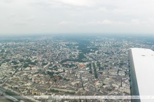 Vu du Ciel : L'ouest de Nantes avec la Vallée de la Chézine